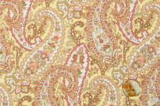 Quilt Gate Cottage Shabby Chic Mary Rose Jessica 2130Y-13C Yellow Paisley BTY