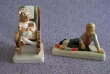 Vintage - Lot of 2 Sebastian Miniatures – Little Mother & Switching the Freight