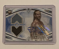 2020 WWE TOPPS UNDISPUTED SHAWN MICHAELS BLUE AUTOGRAPH DUAL RELIC CARD SN 21/25