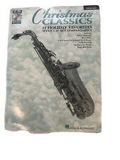 Alto Sax Sheet Music + Cd Christmas Classics Hal Leonard