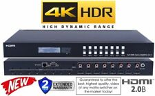 NEW 4K 8x8 HDMI Matrix Switcher HDR 18GBPS UHD Crestron Control4 Savant 60HZ YUV