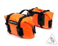 DrySpec D20 Waterproof Motorcycle Drybag Saddle Bag System- ORANGE