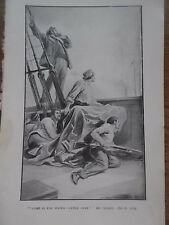 Original 1919 Print / Book Illustration The Empire Annual for Boys WAR on SHIP