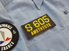 SNAKE PATCH - SNA S 605 AMETHYSTE  Marine nationale SOUS MARIN NUCLEAIRE scratch