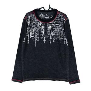 Desigual ELIAS Dark Grey Long Sleeve T Shirt Top Jumper Sweater M XL XXL