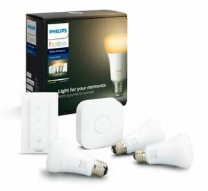 Philips Hue White Ambience Starter-Kit mit Glühbirnen E27