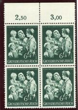 GERMANY;  1944 early Child Mother Welfare issue MINT MNH CORNER 6pf. BLOCK