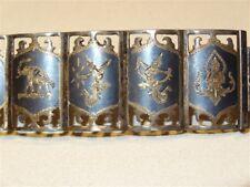 """Silver 6 3/4"""" Bracelet Siam Thailand Vintage Sterling"""