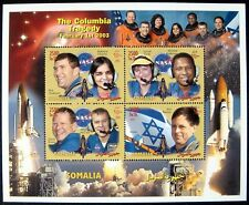 SOMALIA SPACE SHUTTLE COLUMBIA TRAGEDY STAMPS 2003 MNH RAMON CLARK fake issue