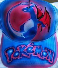 Pokemon Go Custom Airbrush Trucker Hat! Charizard snapback personalized Pokémon