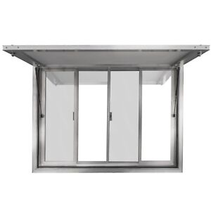 """48"""" X 36"""" Concession Stand Trailer Serving Window Awning Food Truck Service"""
