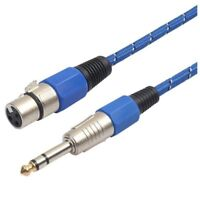 T8K3 3Pin XLR Female Jack to 6.35mm Male Plug Stereo Microphone Cable Adapter Co