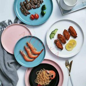 Dessert Plates Salad Cake Dinner Fruit Ceramic Breakfast Tableware Plain 8 Inch