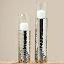 SET PHOTOPHORE argent Support de bougie PORTE-PLAT chandelier martelées GISA