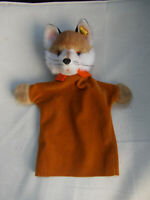 Ancien Marionnette Steiff fox renard  animal made in Germany