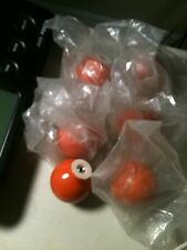 (7) Large Dark Orange Round Ball Shaped Ceramic Cabinet or Drawers with Screws