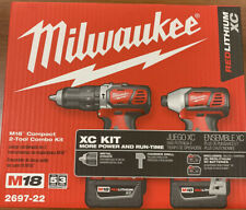 Milwaukee M18 Compact 2-Tool Combo Kit Hammer Drill And Impact Driver 2697-22