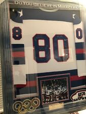 1980 Team USA Signed Jersey With Herb Brooks. 21 Signatures