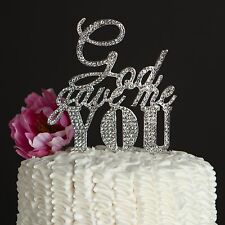 God Gave Me You Wedding Cake Topper Silver Religious Christian Decoration