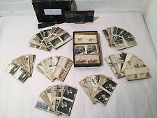 Set of 96 Slides w Slide Holder for Stereoscope / French Lantern circa 1930 - VR