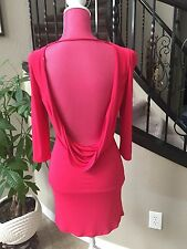 Women's Emilio Pucci Cocktail Dress Size 38 US 4, XS-S Raspberry Red Open Back