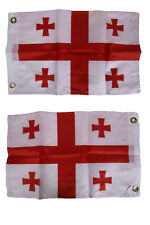 """12x18 12/""""x18/"""" Georgia Republic Country Motorcycle Flag Grommets"""