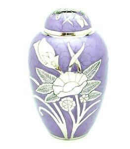 Purple Flower Adult Cremation Urn