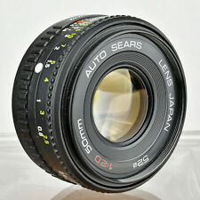 VTG Auto Sears f/2.0 50mm Manual Focus Fixed Prime Lens Pentax K Mount PK-M