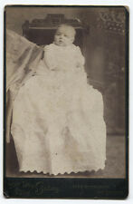 CABINET CARD BABY BEING HELD BY DRAPED ARM. MARKET ST, SAN FRANCISCO, CALF.