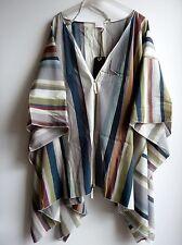 *** Annette Görtz oversize Kleid, Strandkleid, Überwurf, Seide, multicolor
