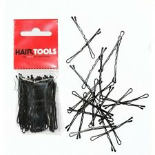 "HairTools Professional 2"" Waved BLACK Hair Grips x 50"