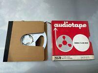 "Vintage 10.5"" Scotch Metal Take-up Tape Reel Aluminum w/ Tape & Box"