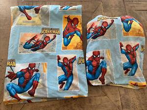 Spiderman Marvel Brand Twin Fitted & Flat Sheet Set EUC