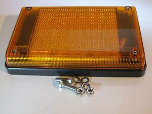 192mm Super-Bright Amber LED Sealed Single Function Truck Light (Multi-Voltage)