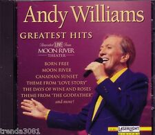 ANDY WILLIAMS Greatest Hits Recorded Live MOON RIVER THEATER CD Classic 50s