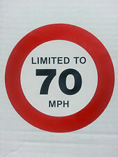 LIMITED TO 70 MPH 125mm Speed Limiter Sticker  - van truck lorry vehicle