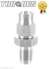 "AN-3 (3AN JIC- 3) Hose to 3/8""x24 UNF Male Straight Stainless Steel Hose Fitting"