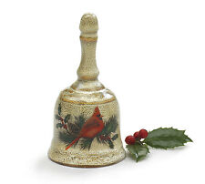 ~~ONE (1) CRIMSON CARDINAL DINNER BELL HAND PAINTED PORCELAIN~IMMEDIATE SHIPPING