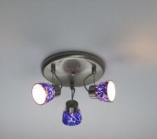 Lampadario plafoniera moderno cameretta bambini faretti orientabili blu bagno
