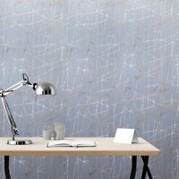 Modern wallpaper gray blue beige rose gold metallic Textured abstract lines 3D