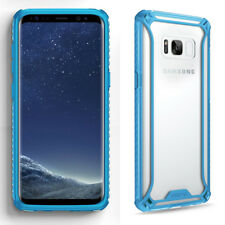 For Samsung Galaxy S8 + Shockproof 360° Bumper TPU Cover Case Blue