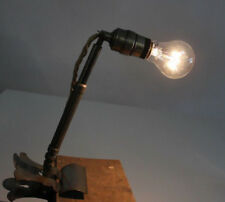 HALA Lampe Teleskopleuchte Klemmleuchte D.R.P. Arbeitslampe 30er 40er Jahre