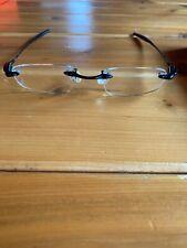 Oakley Why 3 Black Ti 11-642 Titanium Rimless Eyeglasses Japan RX
