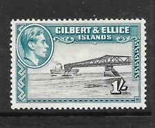 GILBERT & ELLICE ISLANDS 1939  1/-  KGVI  PICTORIAL   MLH  P13 1/2  SG 51