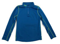 Under Armour Boys Neon Blue Cold Gear Quarter Zip Pullover YLG Fitted