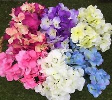 Artificial Flowers 6 Large Bunches Hydrangeas 42 Heads Total Home Garden Crafts