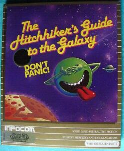 """1988 Infocom Hitchhiker's Guide to the Galaxy PC Game Folder Version 5.25"""" VGC"""