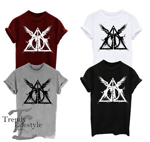 HARRY POTTER INSPIRED TRIANGLE DEATHLY HALLOWS CURSED CHILD MEN KIDS T-SHIRT