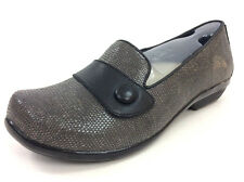 Dansko Womens Olena Loafer - Grey Croc Leather EU 38 US 7.5-8 NWOB