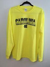 UNC Tar Heels NORTH CAROLINA Safety Green Long Sleeve T-Shirt Size M NWT